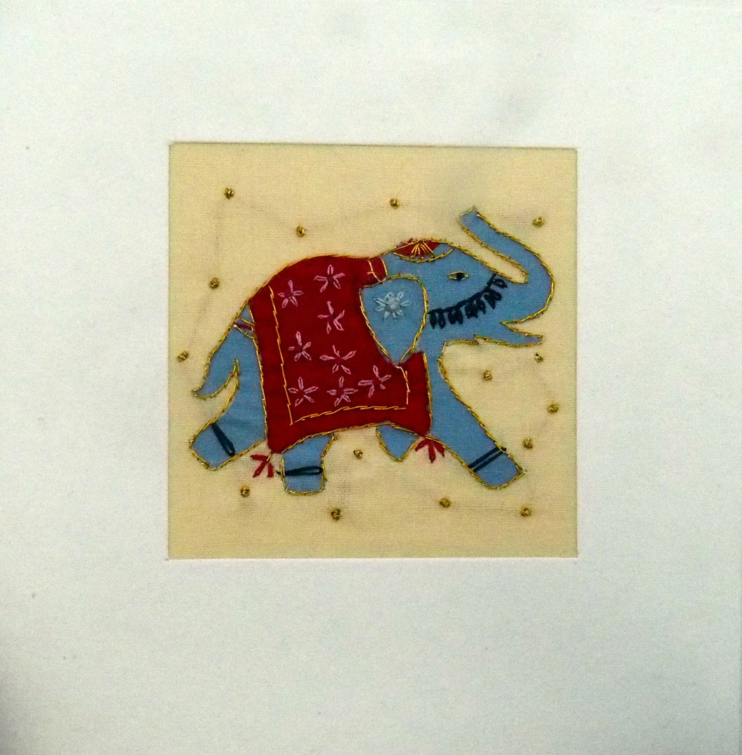 Artisans Fair Embroidered Card - Indian Elephant