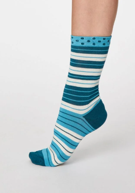 Thought Bamboo Women's Socks - Addie Lagoon Blue