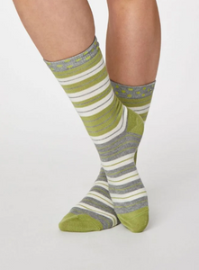 Thought Bamboo Women's Socks - Addie Pea Green