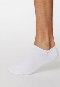 Thought Bamboo Men's Trainer Socks - White