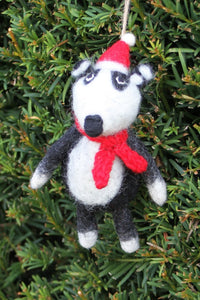 Pachamama Knitwear Basil the Badger Decoration