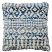 Load image into Gallery viewer, Namaste Wool & Recycled Denim Cushion Cover, 45x45 cm