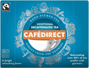 Cafedirect Decaffeinated Teabags 80s