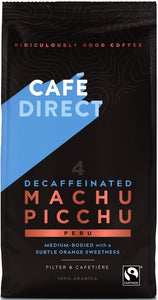 Cafedirect Machu Picchu Decaffeinated Ground Coffee