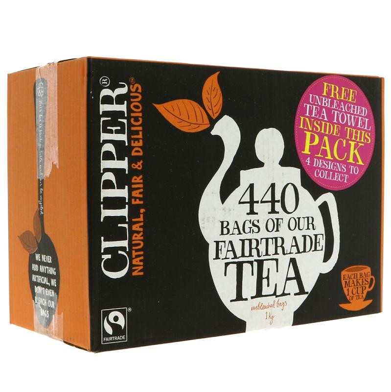 Clipper Fairtrade One Cup Teabags - 440 bags (TE726)