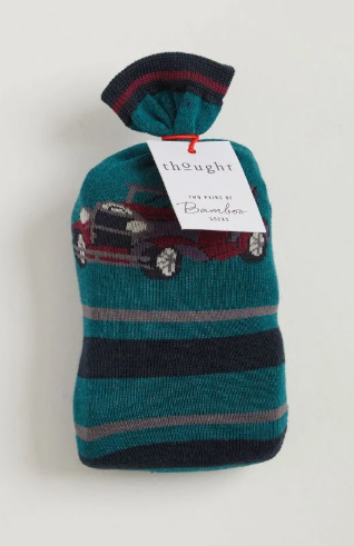 Thought Chauffeur Socks in a Bag, Size 4-7