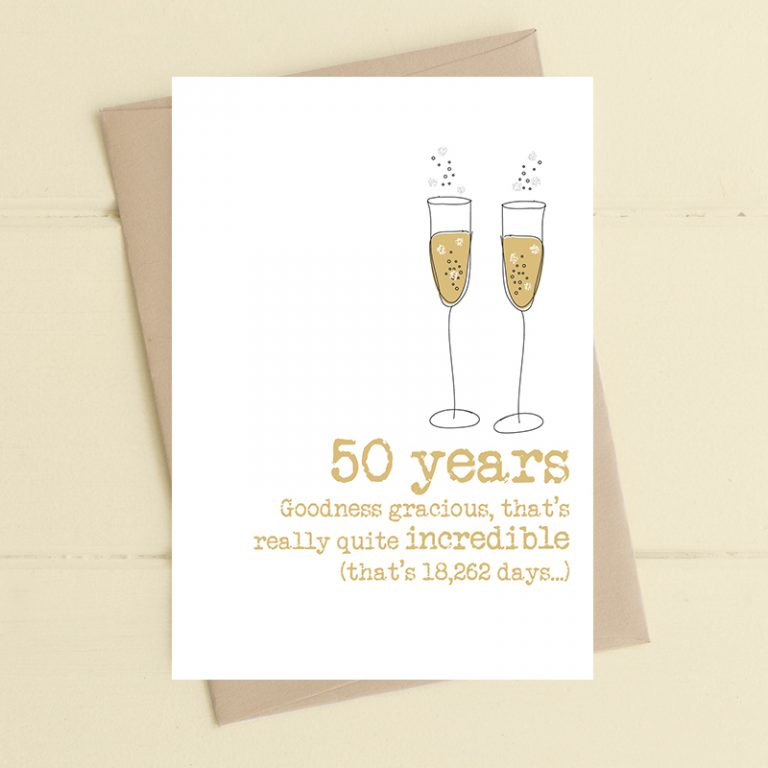 Dandelion Stationery - 50 Years - Incredible