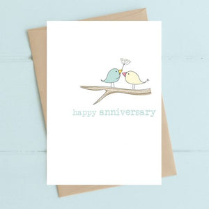 Dandelion Stationery - Happy Anniversary - Birds on Branch