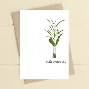 Dandelion Stationery - With Sympathy - Lilies