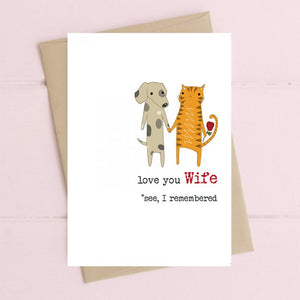 Dandelion Stationery - Wife - I Remembered