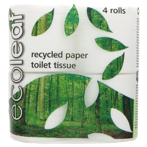 Ecoleaf Recycled Toilet Tissue 4-pack