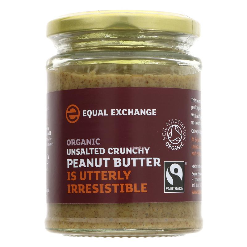 Equal Exchange OG Fair Trade Unsalted Crunchy Peanut Butter 280g
