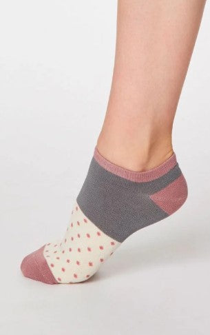 Thought Bamboo Women's Trainer Socks - Esther Cream