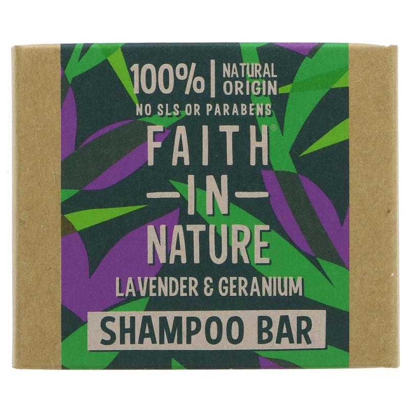 Faith Shampoo Bar, Lavender & Geranium, 85g