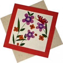 Load image into Gallery viewer, Fair to Trade Pressed Flower Card - Butterflies