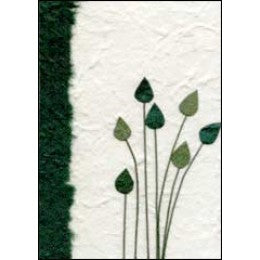 Hope Card - Slender Green Flowers