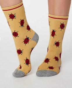 Thought Bamboo Women's Socks - Insetto Ladybird