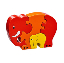 Load image into Gallery viewer, Lanka Kade Elephant and Baby Jigsaw