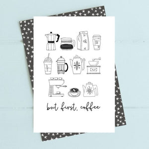 Dandelion Stationery - But first, coffee