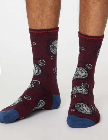 Thought Bamboo Men's Socks -  Momento Wine Red