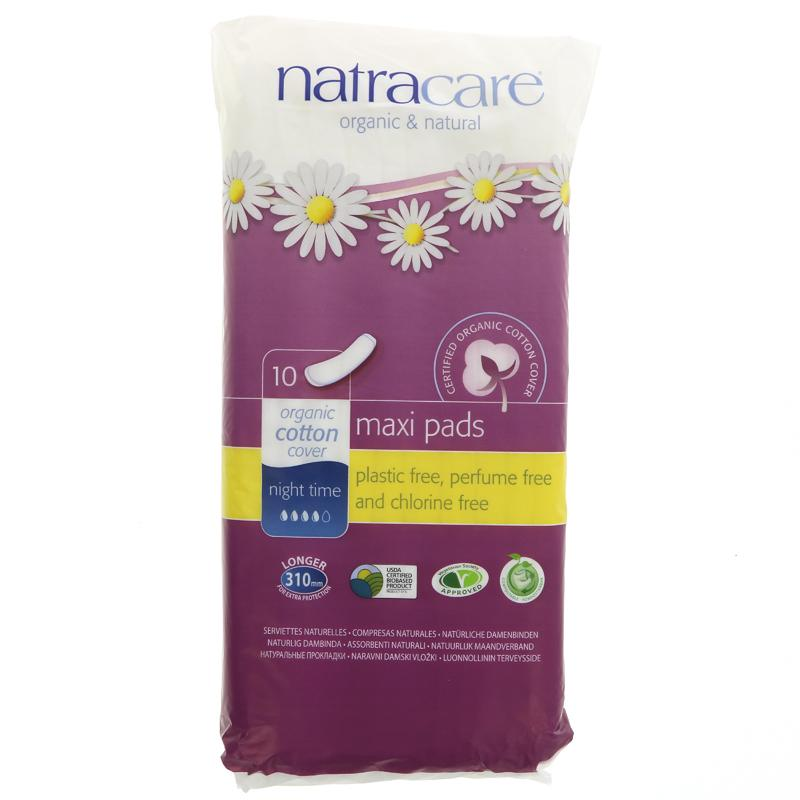 Natracare Night-Time Pads 10s