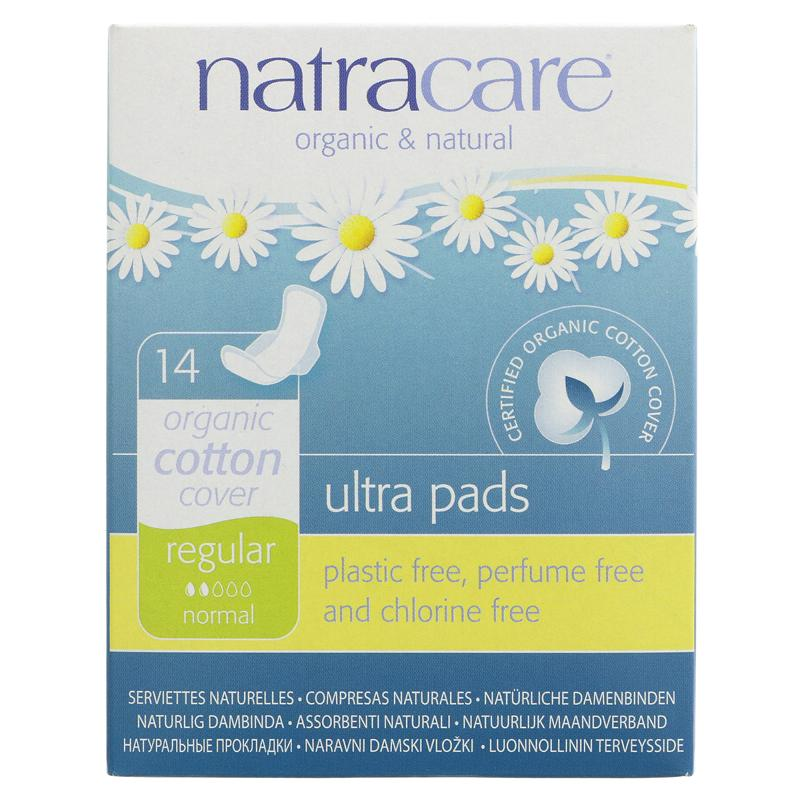 SM Natracare Ultra Pads with Wings 14s - Regular