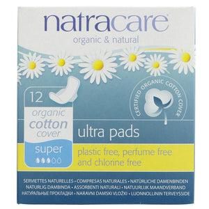 Natracare Ultra Pads with Wings 12s - Super