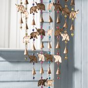 Namaste Elephant Wind Chime Mobile with Mixed Beads