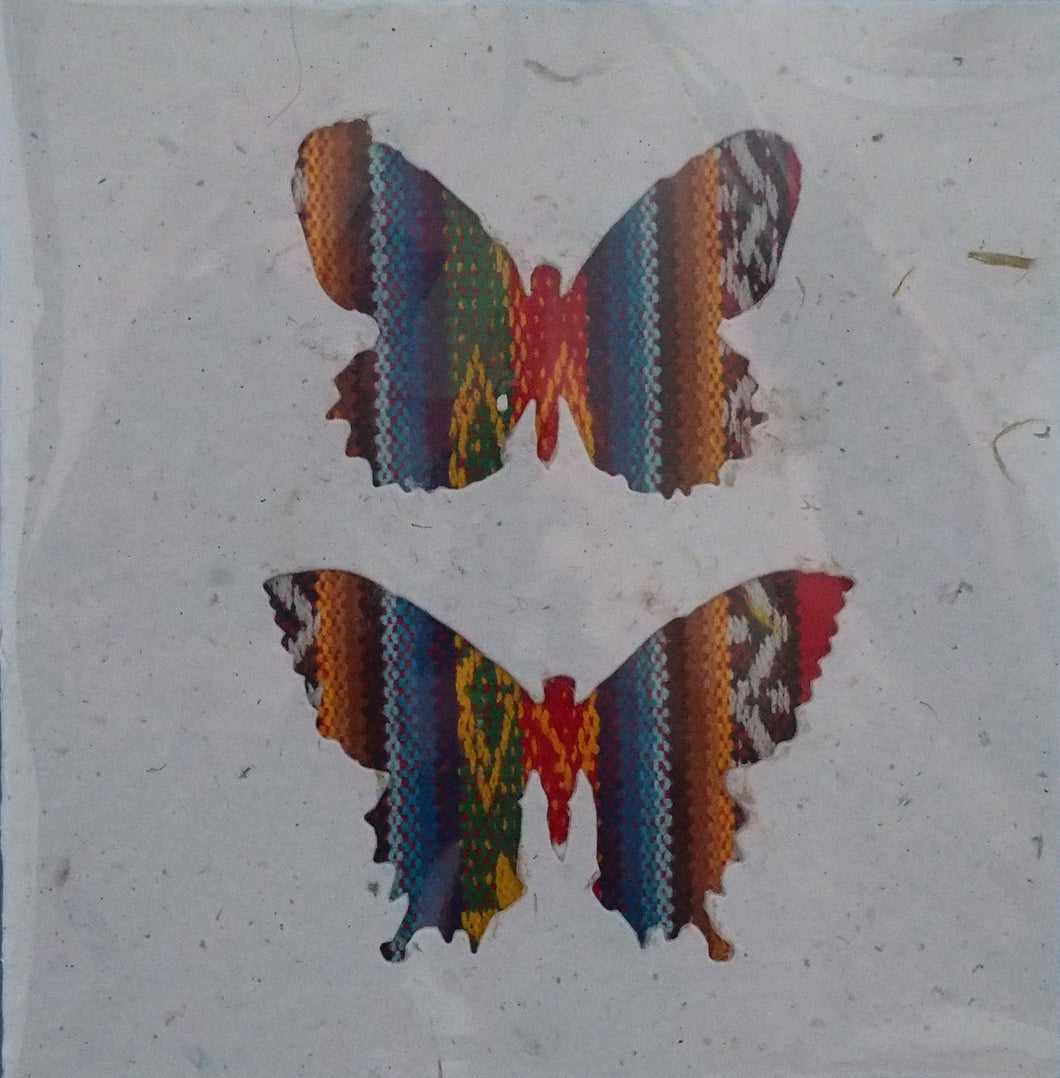 Artizan International  Sq Card - Vintage Butterflies