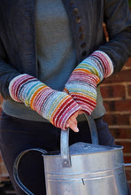 Load image into Gallery viewer, Pachamama Knitwear Hoxton Stripe Wristwarmers