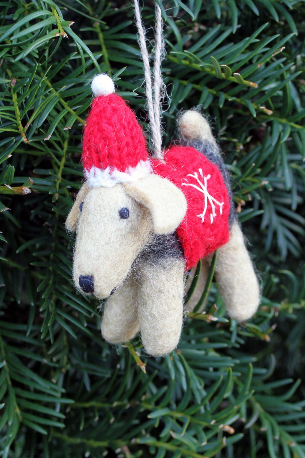 Pachamama Knitwear Brian the Welsh Terrier Decoration