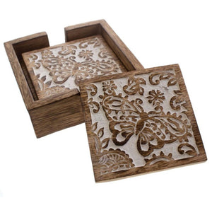 Shared Earth Butterfly Square Coasters (4)