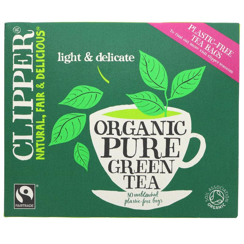 Clipper Fair Trade Green Teabags, 80s