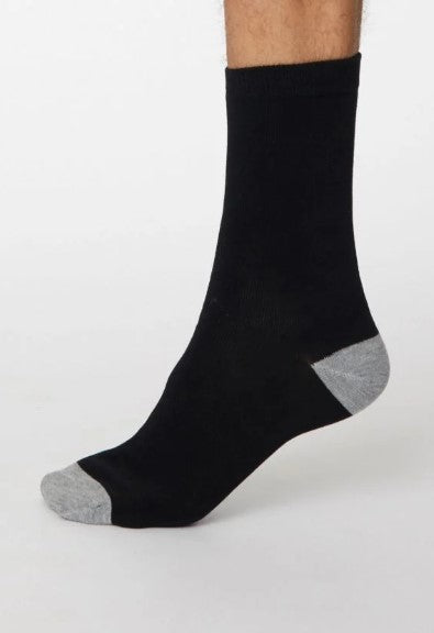 Thought Bamboo Men's Socks - Solid Jack Black