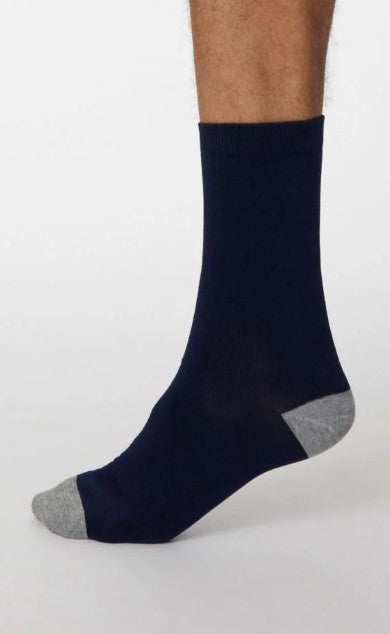 Thought Bamboo Men's Socks - Solid Jack Navy