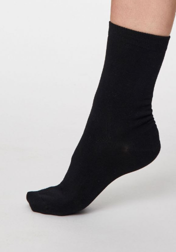 Thought Bamboo Women's Socks - Solid Jackie, Black