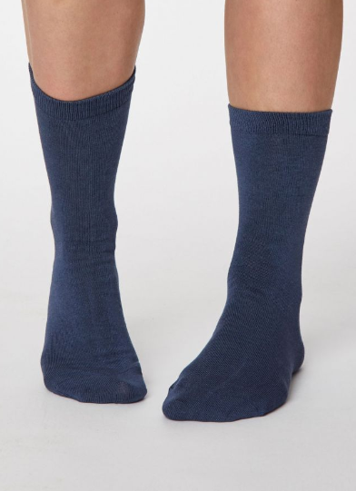 Thought Bamboo Women's Socks - Solid Jackie, Denim