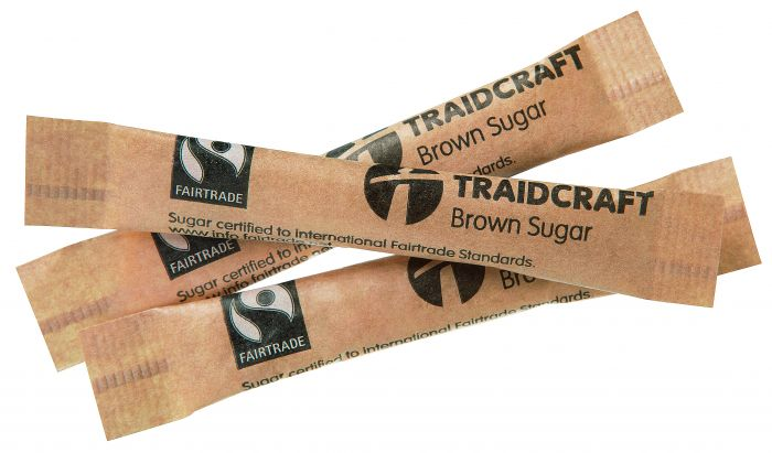 Traidcraft Fair Trade Sugar Sticks 10s - Brown