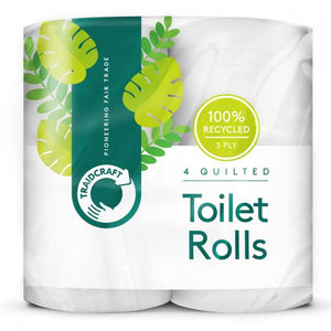 Traidcraft Recycled Toilet Tissue 4-pack