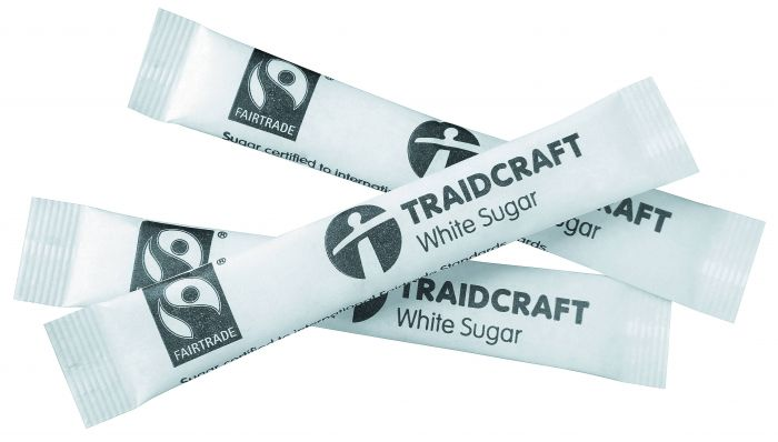 Box of Traidcraft Fair Trade Sugar Sticks - White
