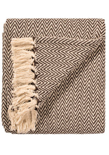 Load image into Gallery viewer, Namaste Chevron Cotton Handloom Throw Terracotta, 125x150 cm