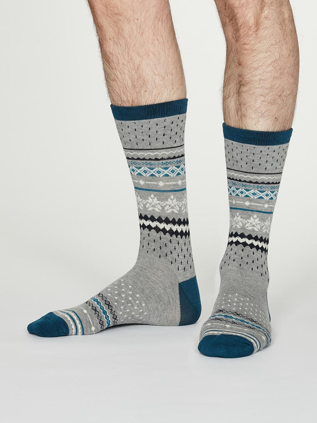 Thought Bamboo Men's Socks - Reginald Mid-Grey Marle