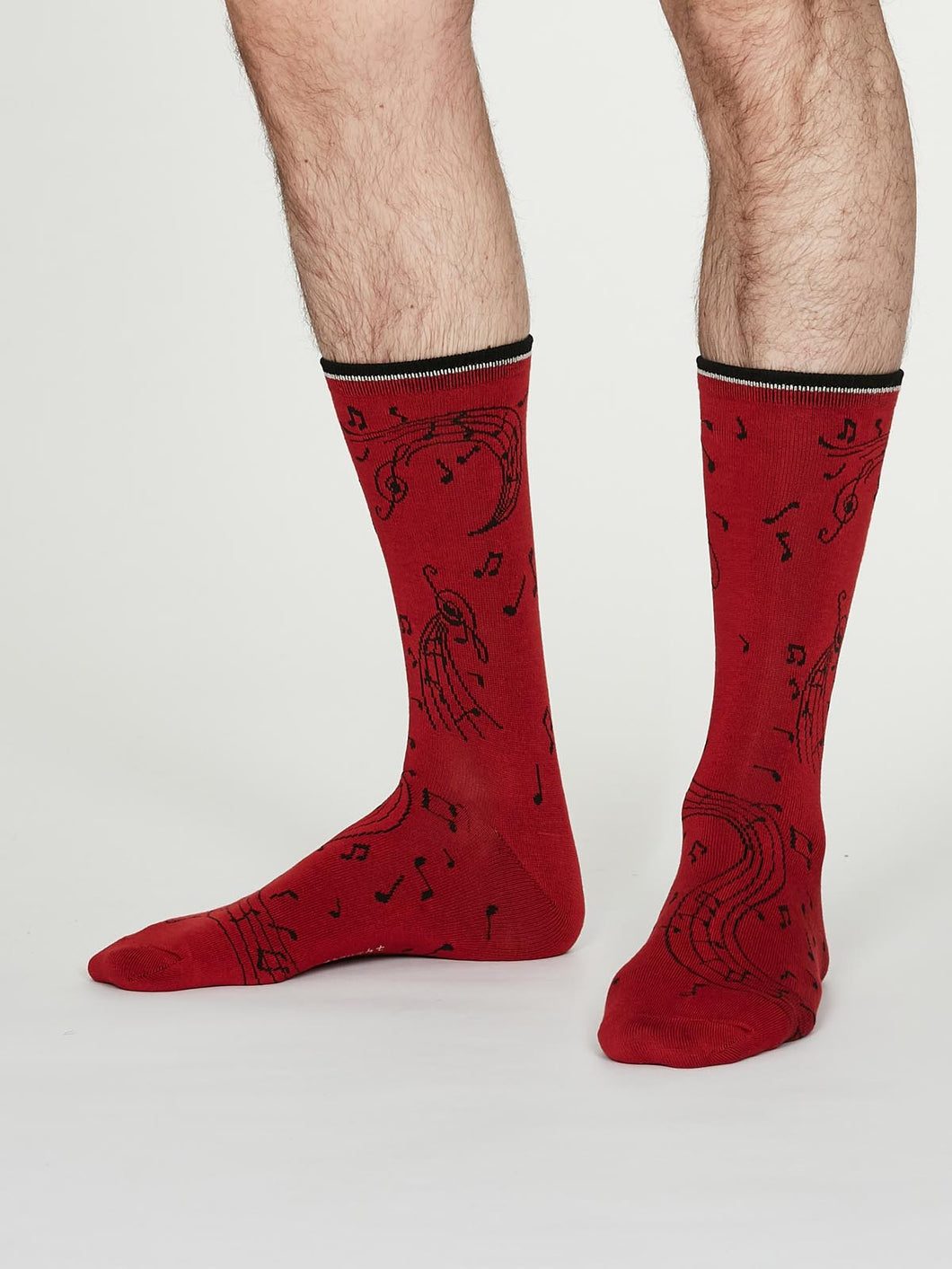 Thought Bamboo Men's Socks - Wallace Crimson Red