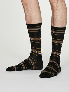 Thought Bamboo Men's Socks -  Nicolson Black