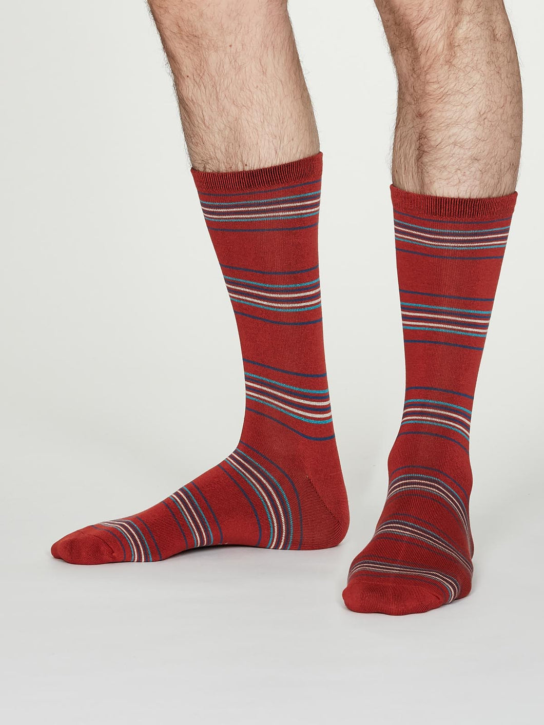 Thought Bamboo Men's Socks -  Nicolson Spiced Orange