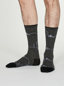 Thought Bamboo Men's Socks -  Monument Grey Marle