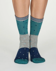 Thought Bamboo Women's Socks - Mercy Bright Turquoise