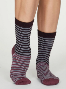 Thought Bamboo Women's Socks - Isabel Plum Purple