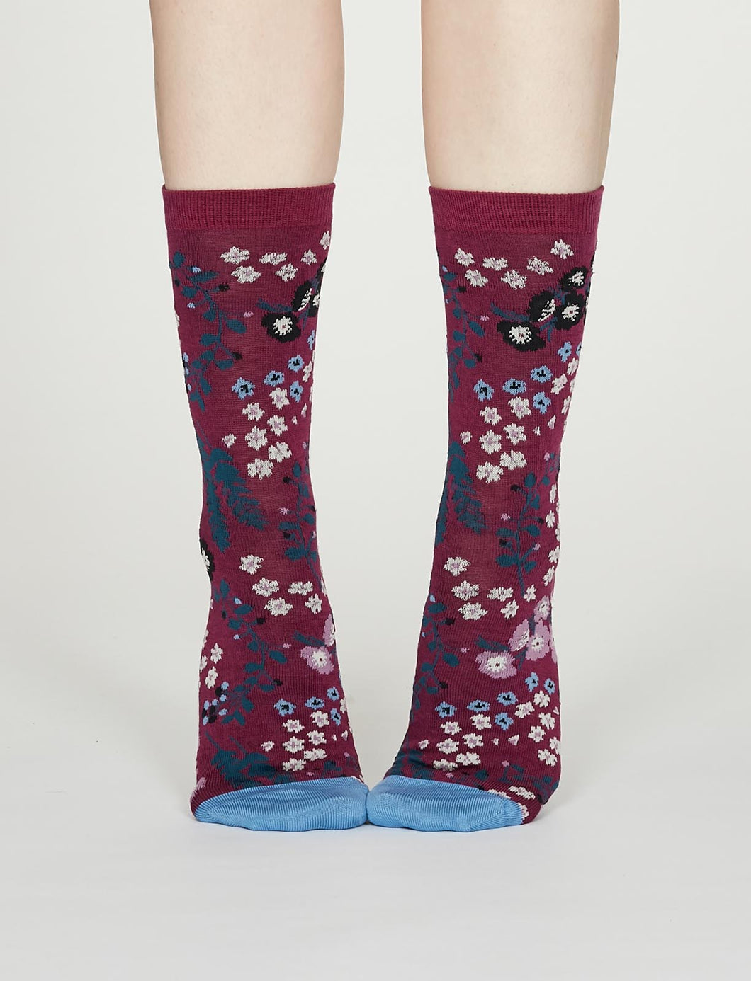 Thought Bamboo Women's Socks - Blossom Vivid Magenta