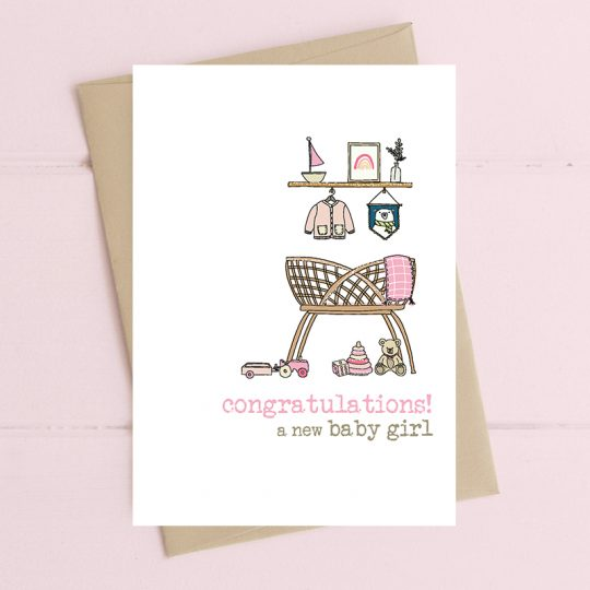Dandelion Stationery - Congratulations, baby girl
